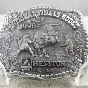 National Finals Rodeo 1996 Hesston Belt Buckle